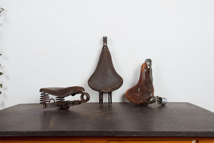 Old Bike Saddles