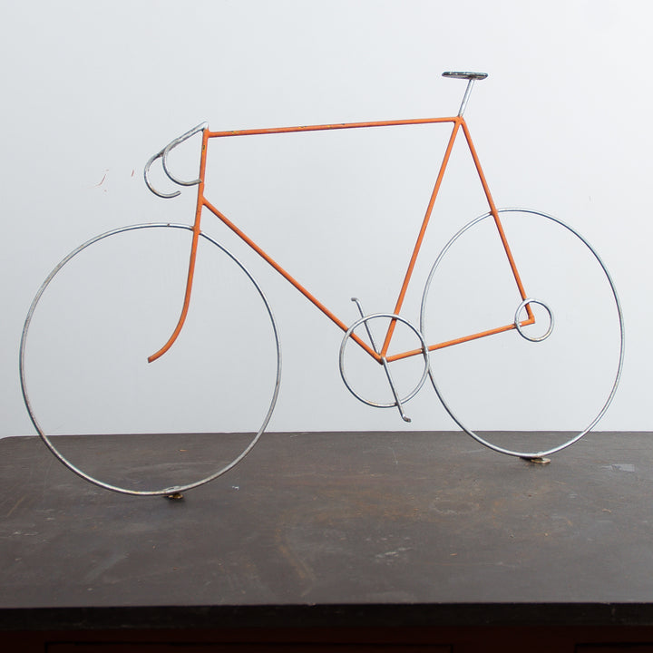 Wire Bicycle Advertisement