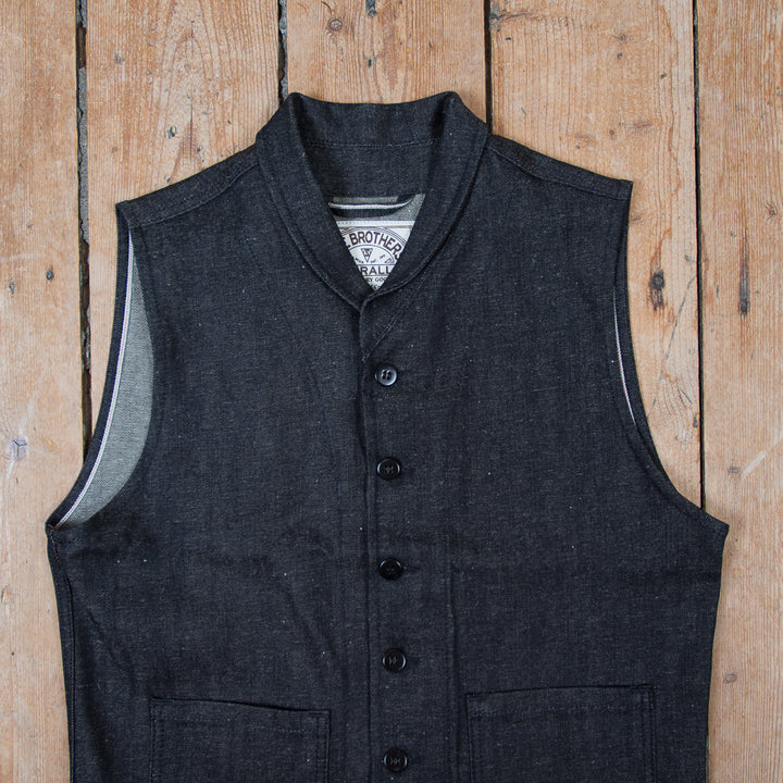 1908 Miner Vest Hemp Denim