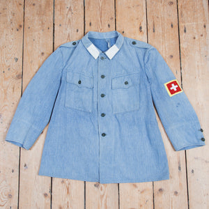 Swiss Denim Work Jacket Patches