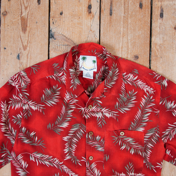 Banana Cabana Hawaii Red Silk