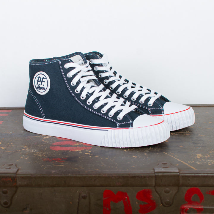 Center Hi Top Canvas Navy