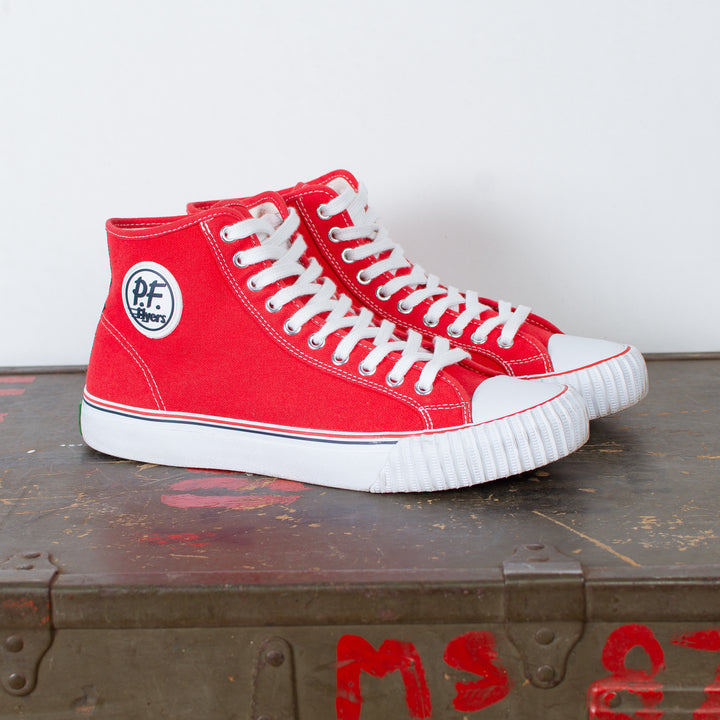 Center Hi Top Canvas Red