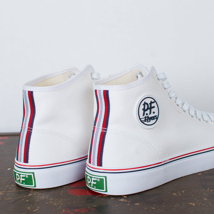 Center Hi Top Canvas White