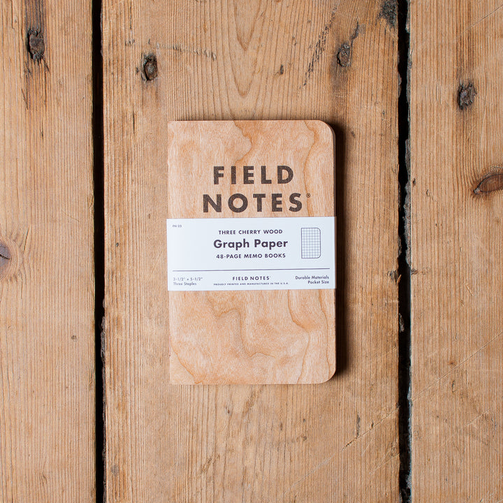 Field Notes Cherry Wood Graph (3-Pack)