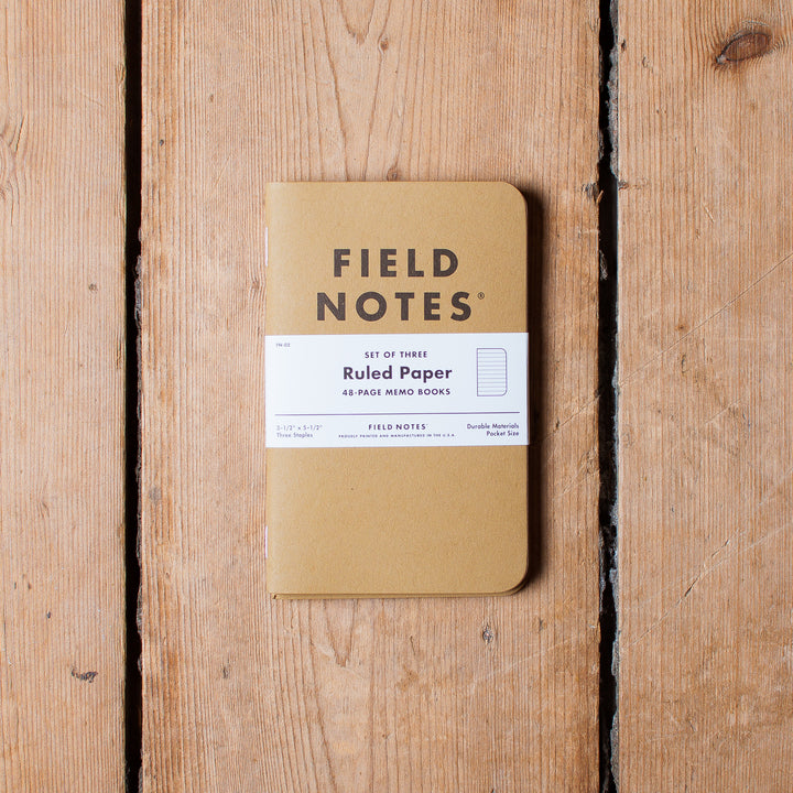 Field Notes Ruled Paper (3-Pack)