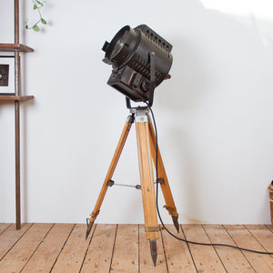 Studio Light on Wooden Tripod