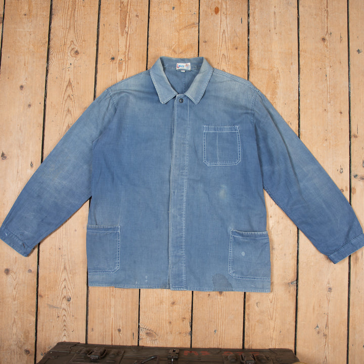 Faded Blue Workers Jacket No. 4