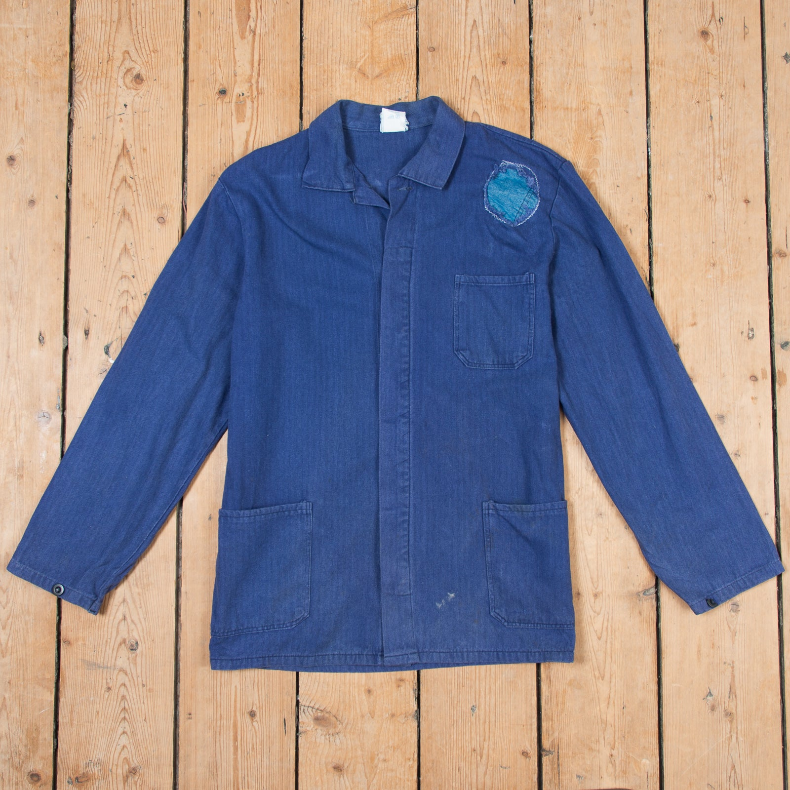 Patched Blue Workers Jacket