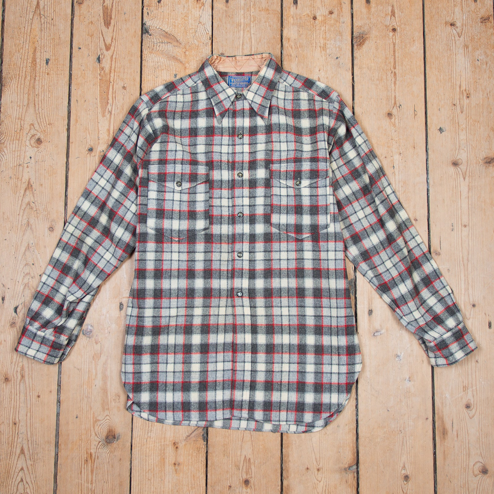 Pendleton Grey Red Check Shirt