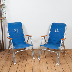 French 1960s Deck Chair Set