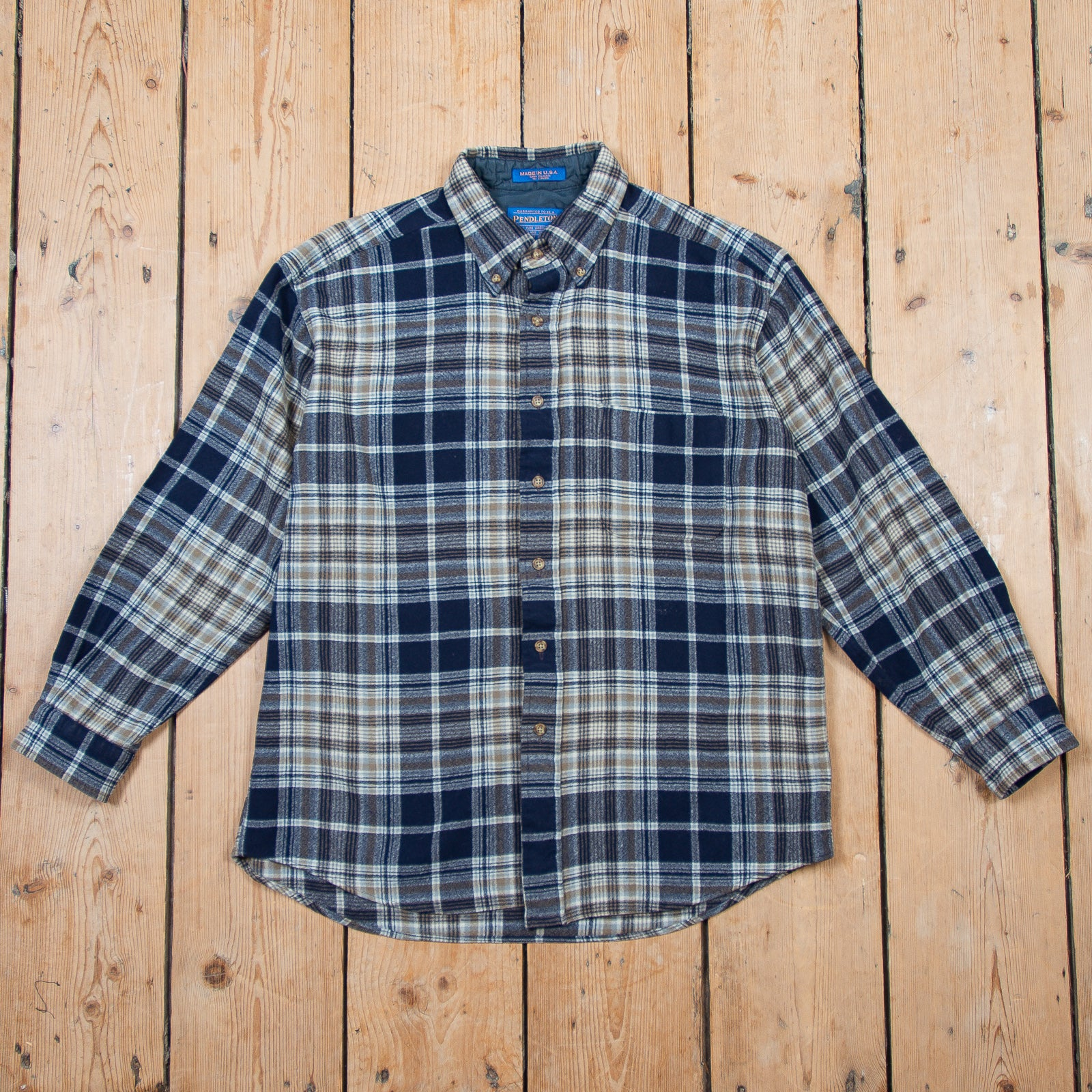 Pendleton Blue Checkered Shirt