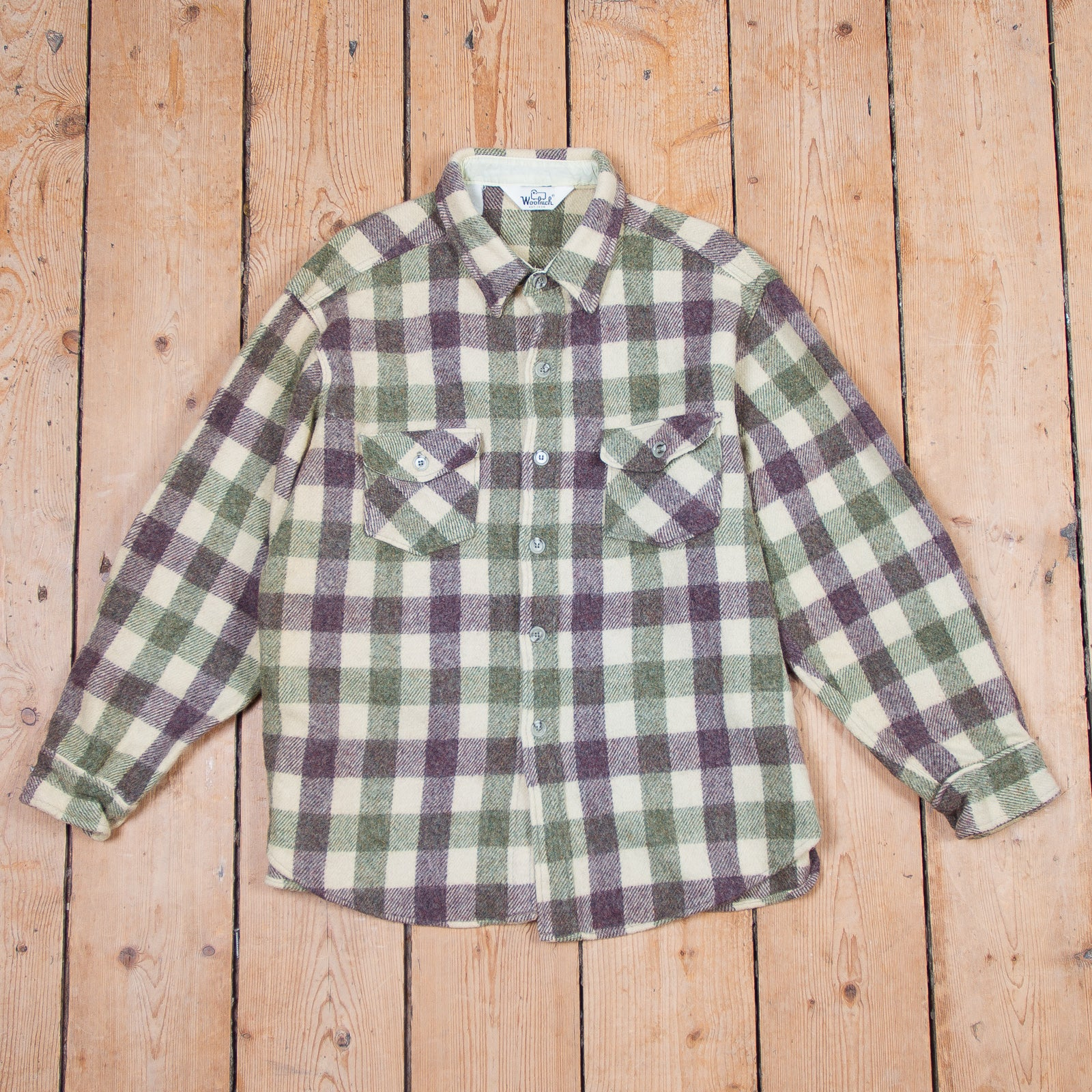 Woolrich Purple Green Checkered Shirt