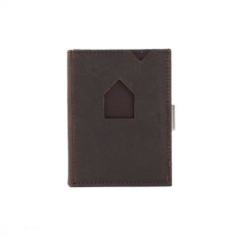 Exentri Wallet Nubuck Brown