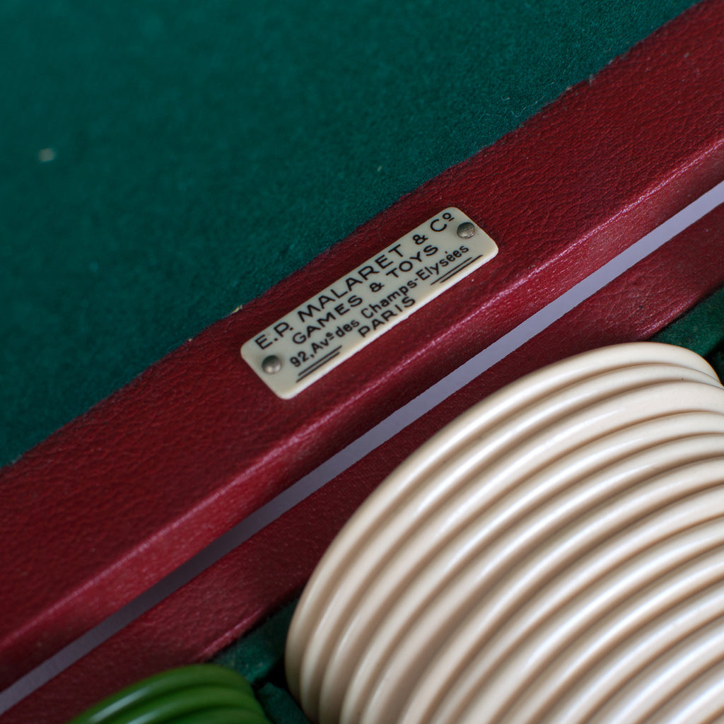 Poker chips in red case