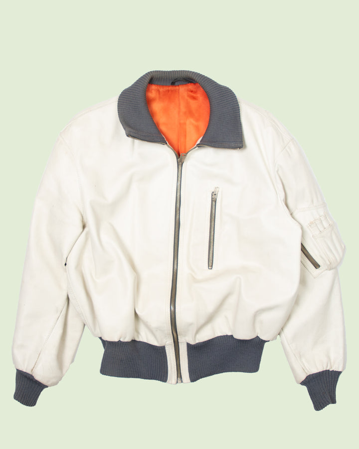 White German Leather Flight Jacket (L)
