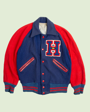 H Red and Blue Varsity Jacket (S)