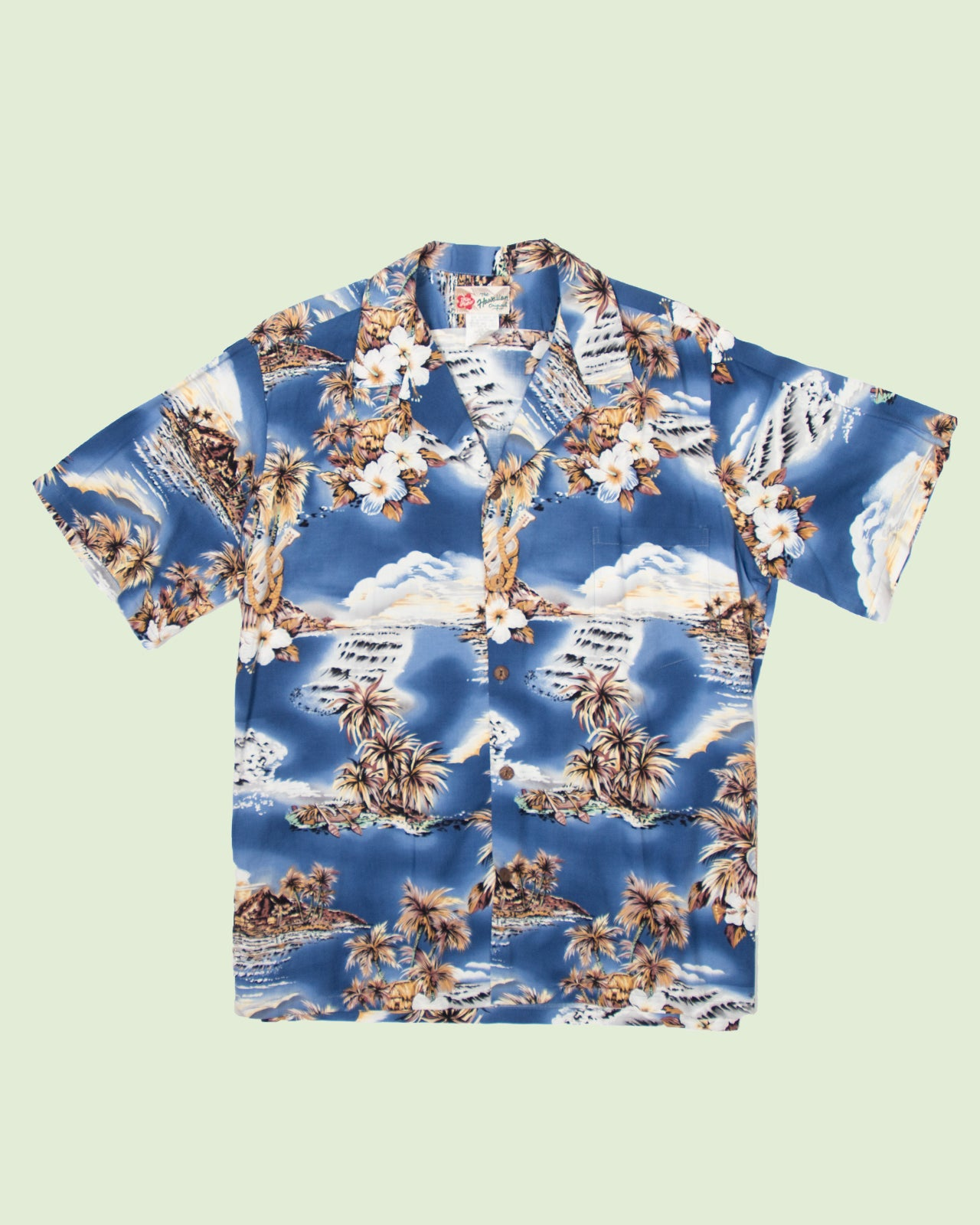 Hawaii Shirt Hilo Hatti Canoe (L)