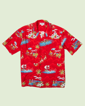 Hawaii Shirt Pacific Legend Surfing Santa