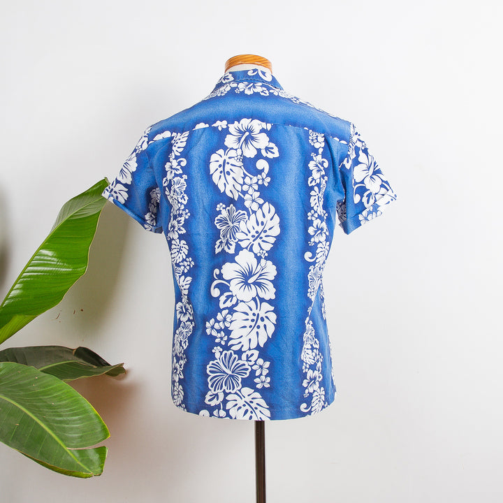 Blue and White Flowers Hawaii Shirt