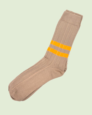 Heritage 9.1Desert Double Yellow Stripe Socks