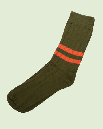 Heritage 9.1 Military Green Double Dark Orange Socks