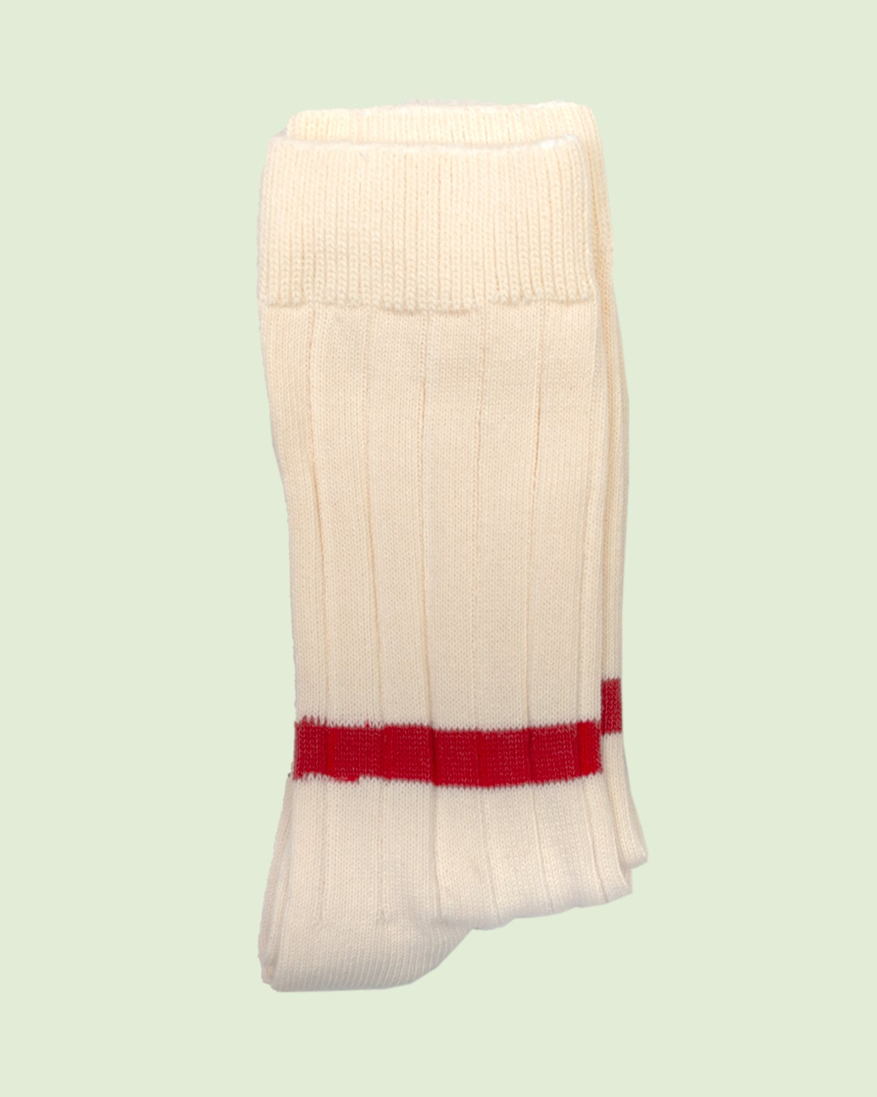 Heritage 9.1 Natural Single Low Red Stripe Socks