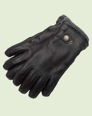 Hestra Utsjo Black Gloves