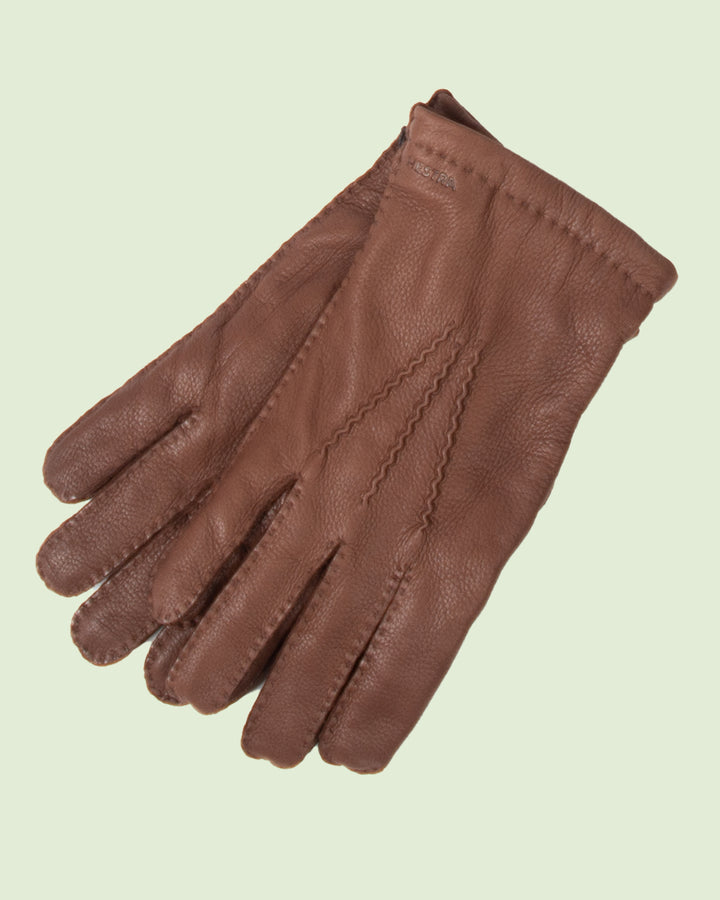 Hestra Matthew Brown Deerskin Gloves