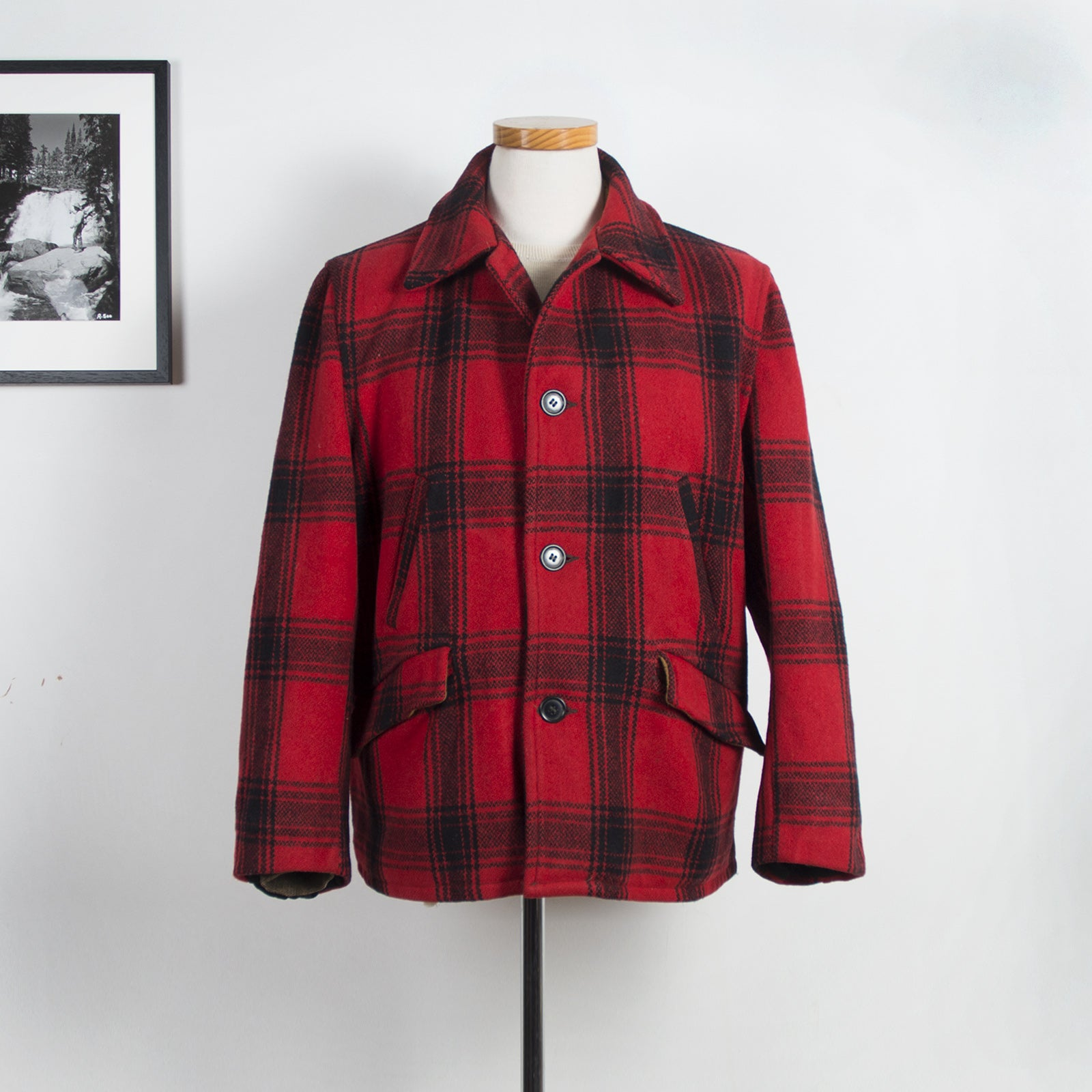 J.C. Higgins Checkered Jacket Red