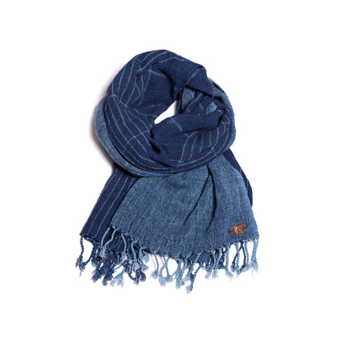 Indigo People Scarf - Kushiro