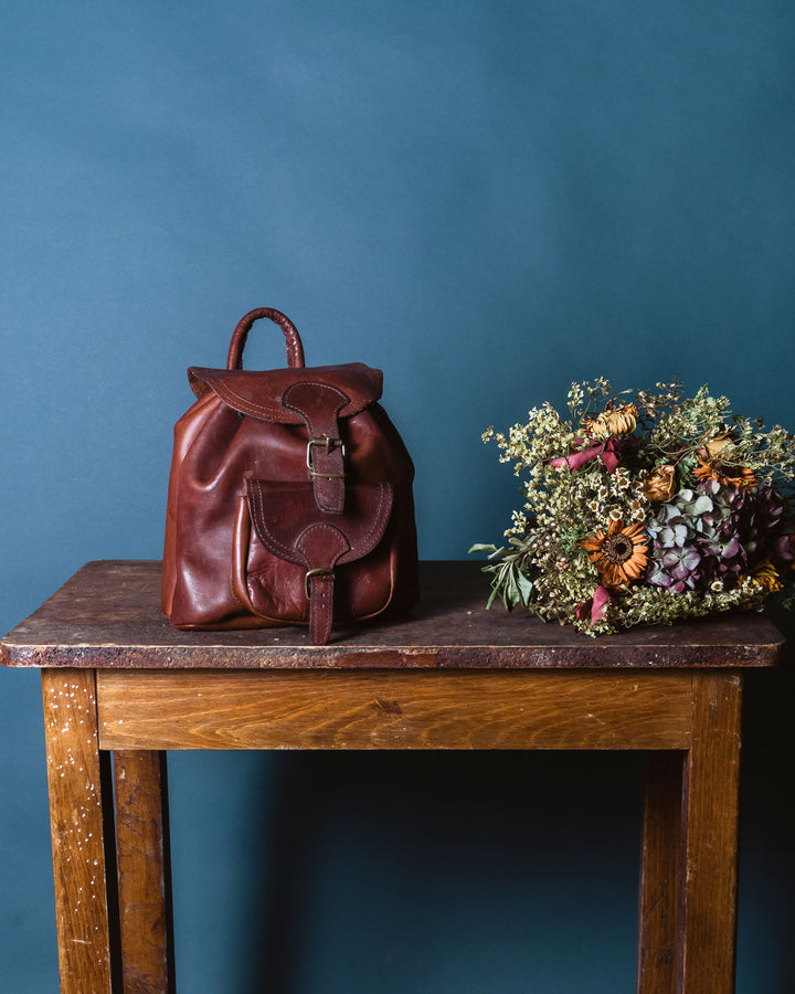 Leather Backpack Small