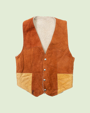 Patched Pocket Lammy Vest (XS)