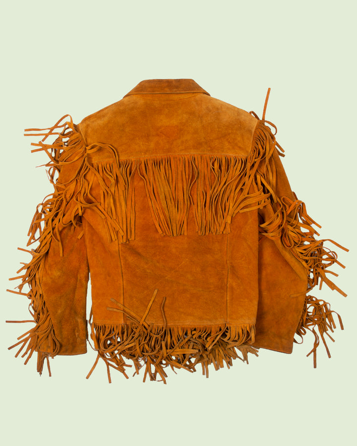 Leather Fringe Jacket (M)