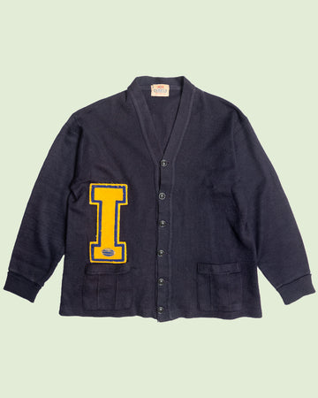 Letterman Cardigan 'I' Black (M)