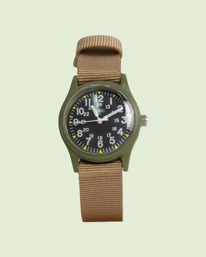 MWC Classic 1960s/70s Pattern Olive Vietnam Watch