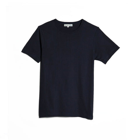1950s Crew Neck T-shirt Dark Blue