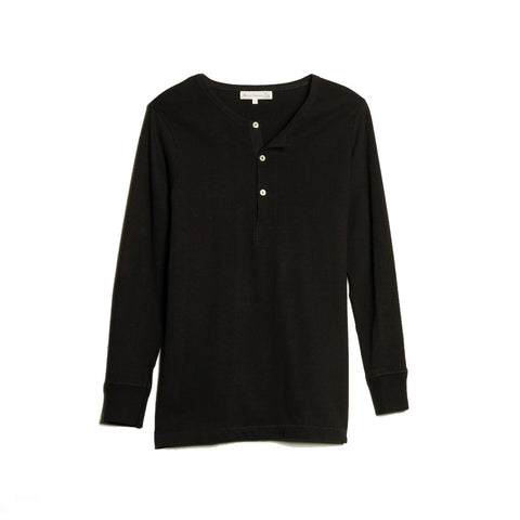 206 Henley Long Sleeve Black