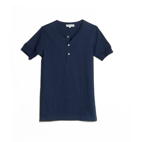 207 Henley Short Sleeve Ink Blue