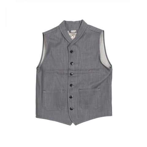 Miner Vest Grey Denim