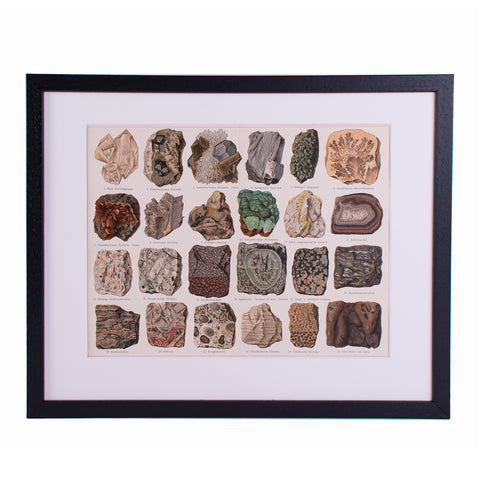 Minerals Lithograph