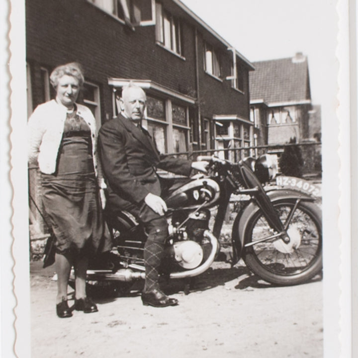 Mom and Pa on the Motorbike