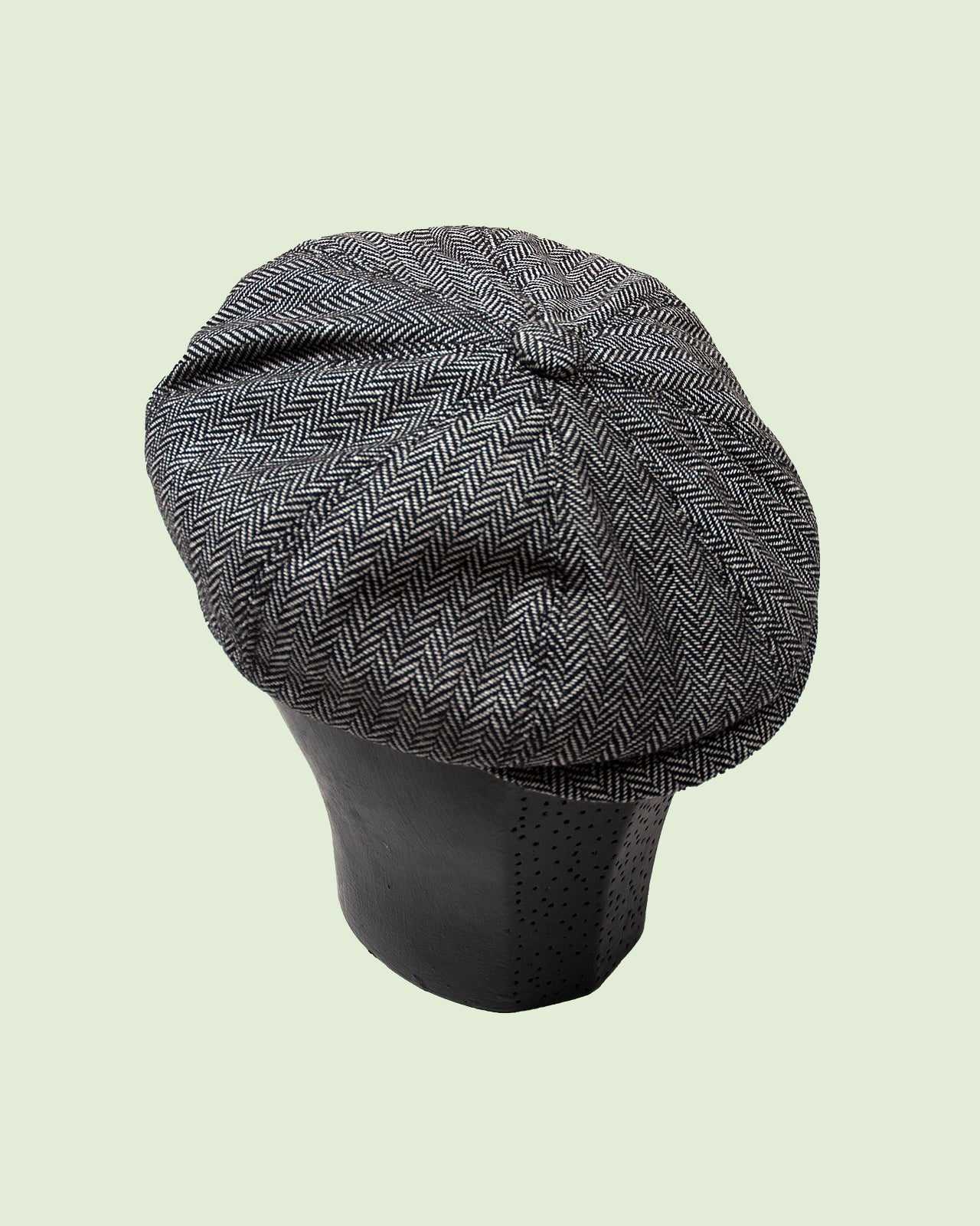 Newsboy Cap Grey Wool/Polyester