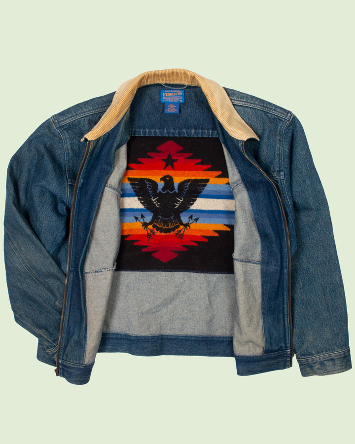 Pendleton Eagle Blanket Jeans Jacket (XL)