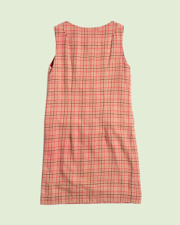 Pendleton Light Beige and Red Tartan Dress (M)