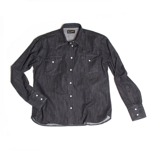 Rider Shirt Black Denim