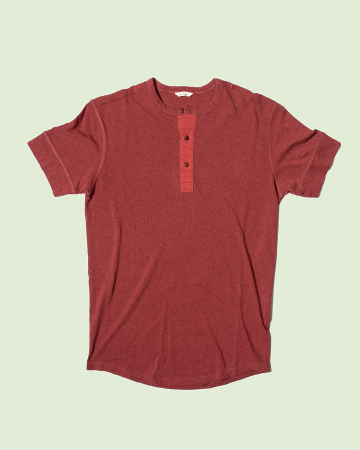 1927 Henley Shirt Short Sleeve Granate Red