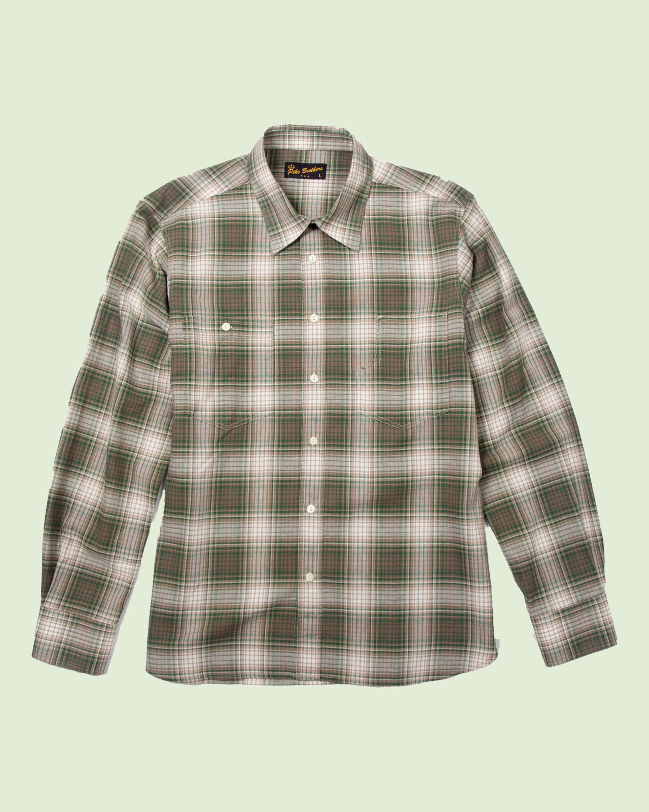 1937 Roamer Shirt Pioneer green check