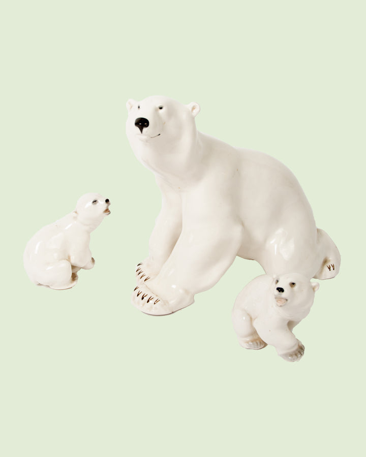 USSR Porcelain Polar Bears
