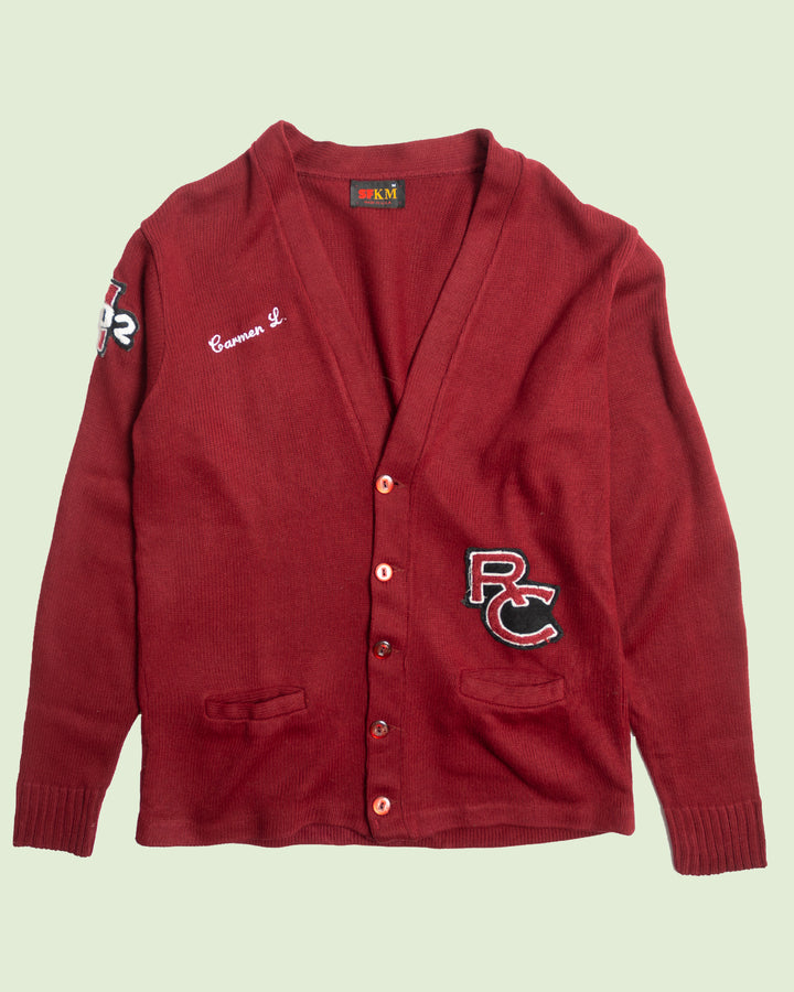 RC Knitted Letterman Cardigan (XL)